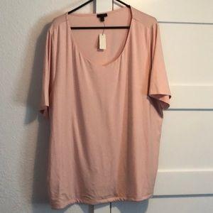 Talbots Women's Pink V Neck Shirt SZ 3X